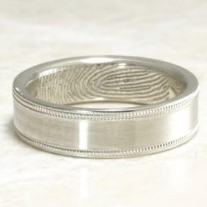 Custom Milgrain ring with your fingerprint by Brent&Jess