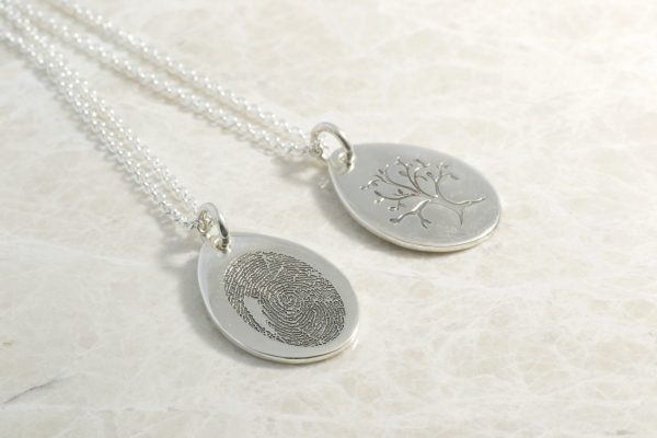 Brent & Jess tear drop tree of life necklace