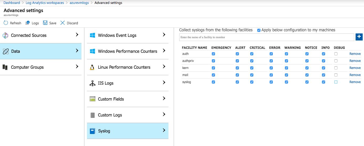 Forwarding Syslog to Azure Log Analytics – Azure Patterns