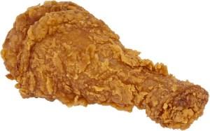 Drumstick of fried chicken