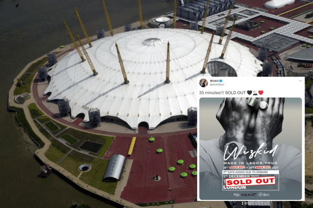 Wizkid sold out two concerts at the O2 in the same day (PA/Twitter/@wizkidayo)