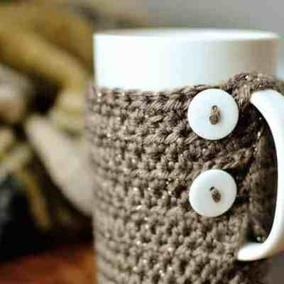Simple Crochet Tall Coffee Mug Cozy