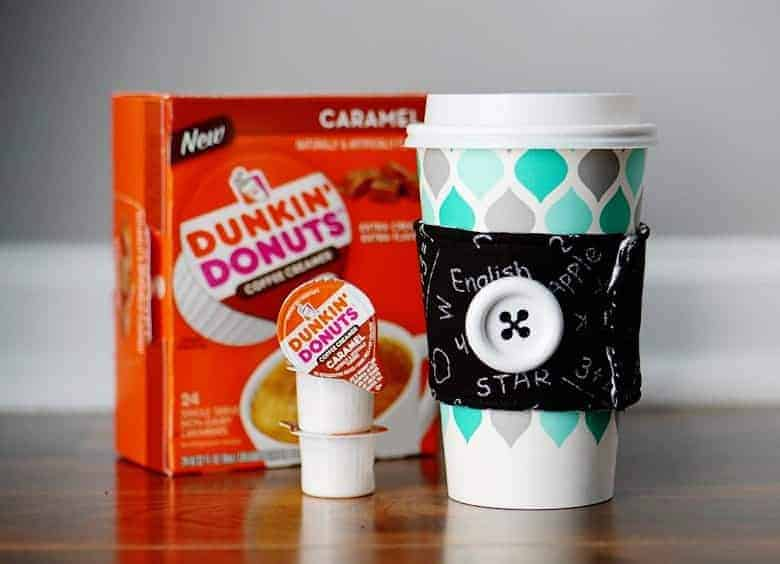 This coffee cup sleeve tutorial is super easy, plus it's a great gift idea for the coffee loving teachers!