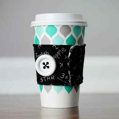 Easy DIY Reusable Coffee Cup Sleeve