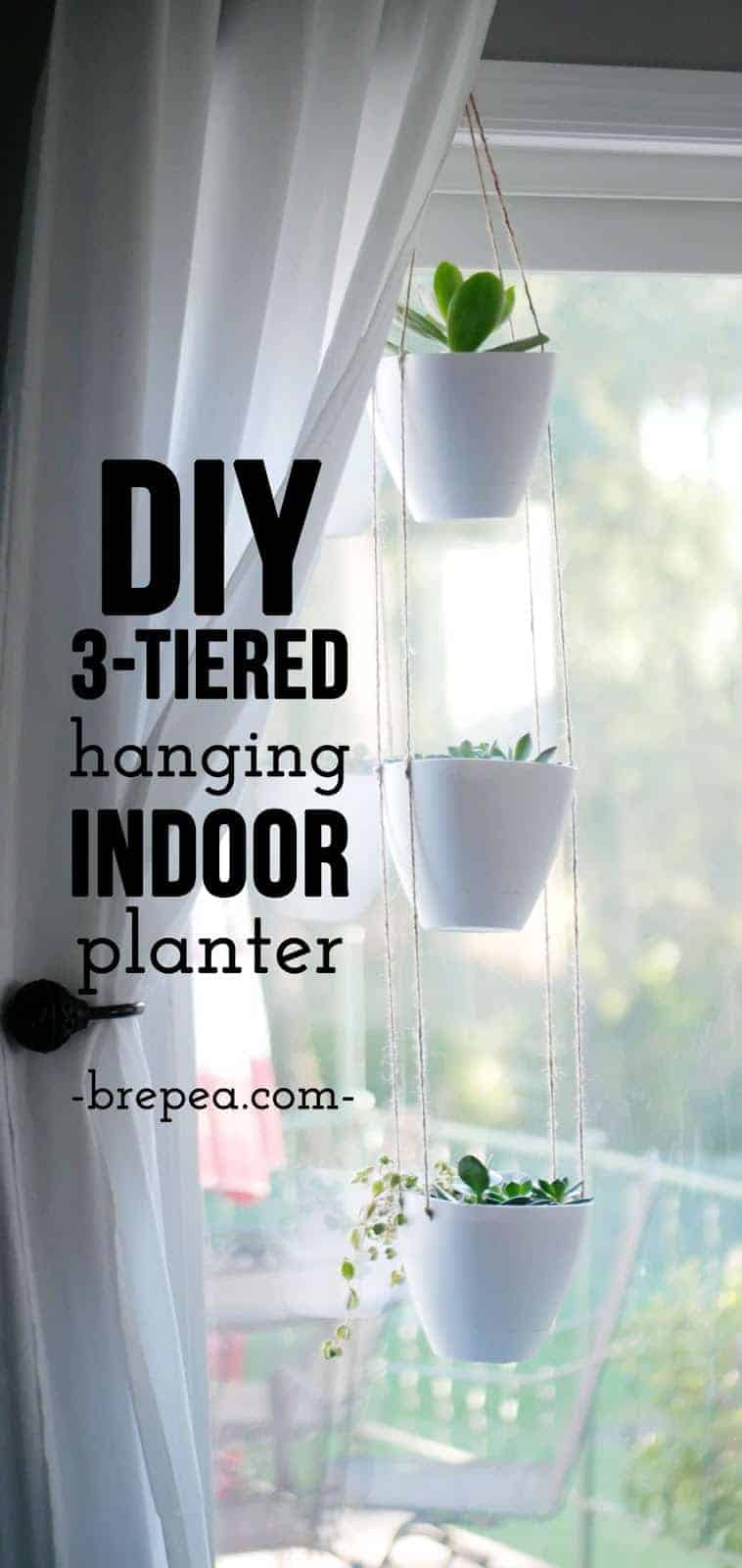 This DIY hanging planter tutorial is so quick and easy! Plus, it's so much cheaper than other 3-tiered planters.