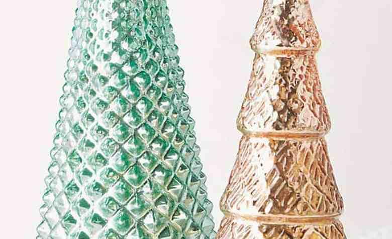 Textured Glass Christmas Tree
