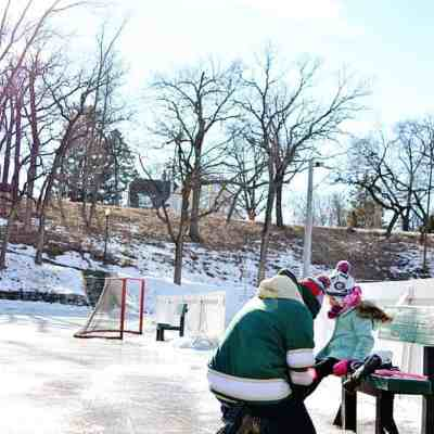 Outdoor Ice Skating at The Pit: Bean's Official First Time Ice Skating
