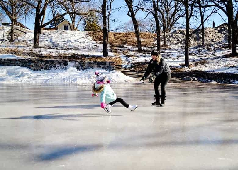 Looking for the best place to take your kids ice skating outdoors in Minnesota? Check out the Handke Pit!