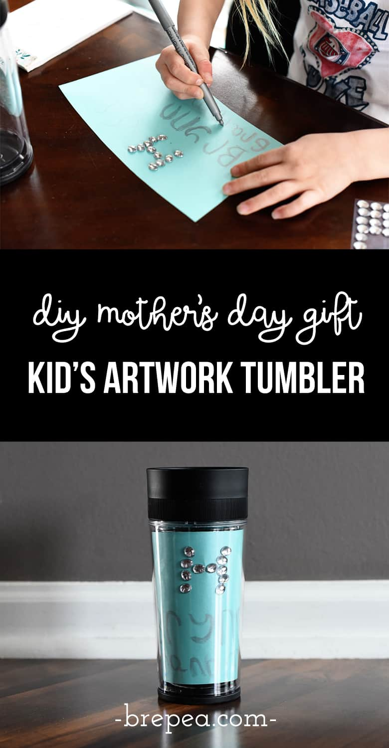 This DIY mother's day gift is practical, sentimental, and it gets the kids involved! The perfect DIY gift for grandma or mom!