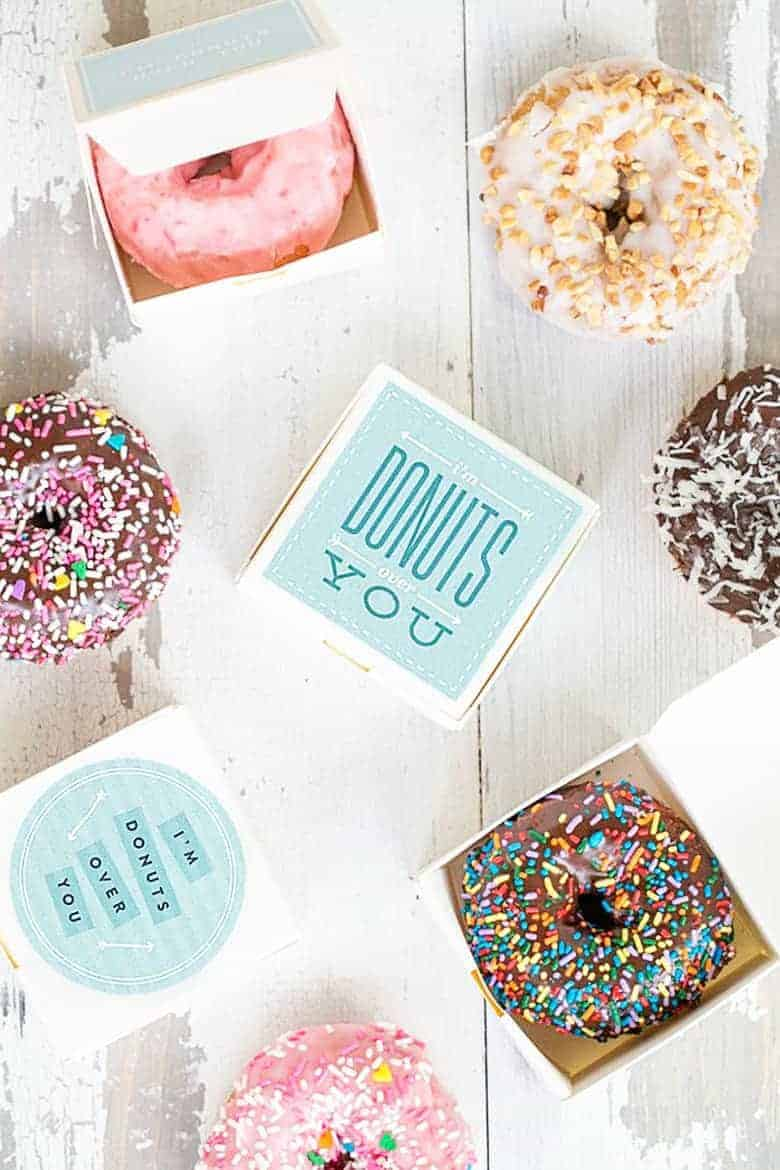 This free donut printable collection is the perfect solution for a quick DIY gift that everyone, including teachers, will love.