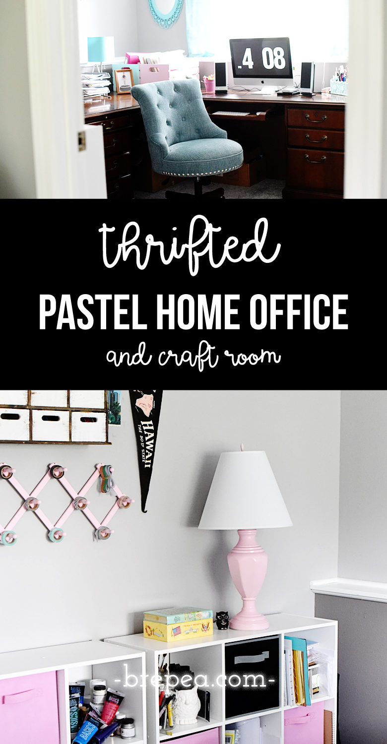 craft room home office design. This Thrifted Home Office Was Put Together With Many Repurposed/thrifted Pieces Made Over Craft Room Design D