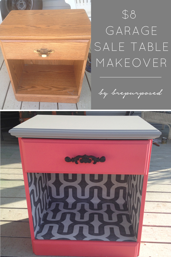 Coral Nightstand Makeover