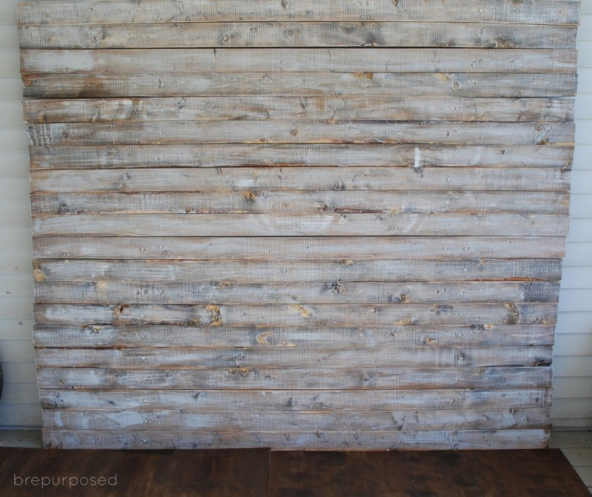 DIY Faux Distressed Wood Backdrop