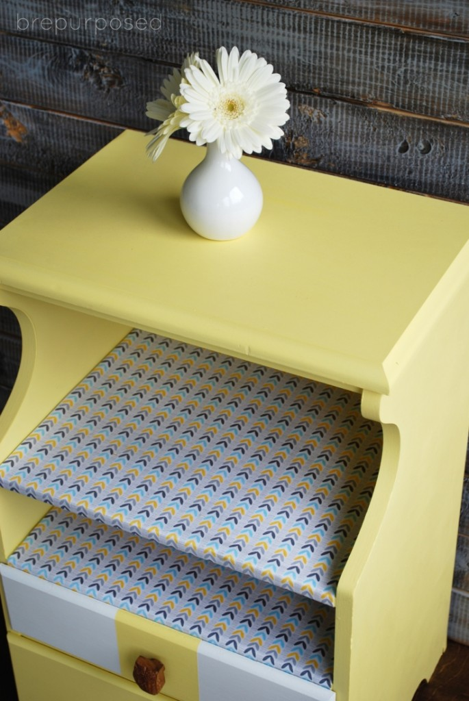 Yellow Table Makeover