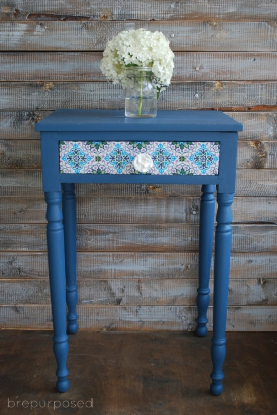 Homemade Chalk Painted Table