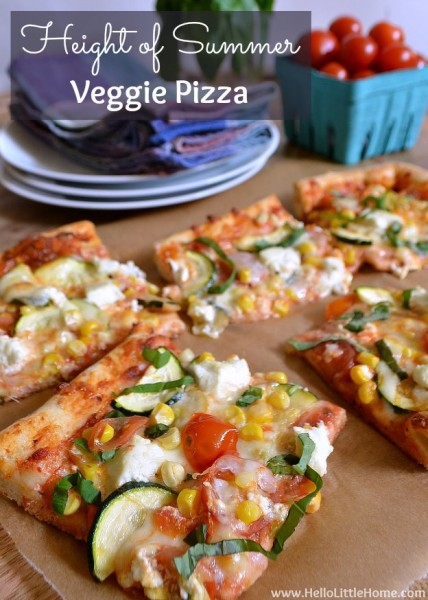 Height of Summer Veggie Pizza