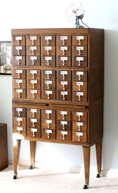 Card Catalog Home Decor