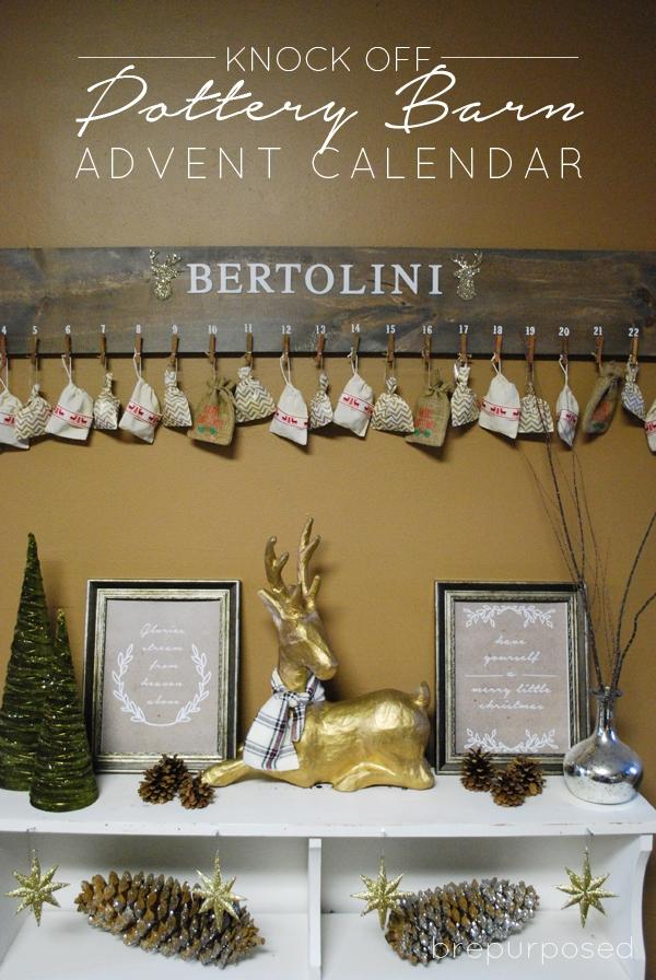 Knock Off Pottery Barn Advent Calendar