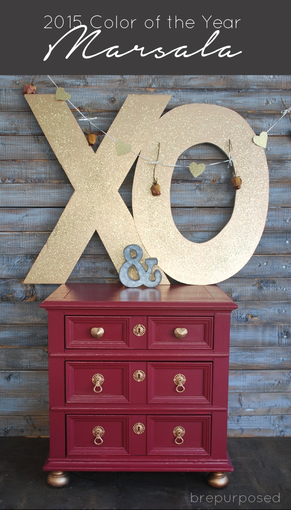 Marsala Makeover :: 10 Days of Valentines with Porch and Valspar