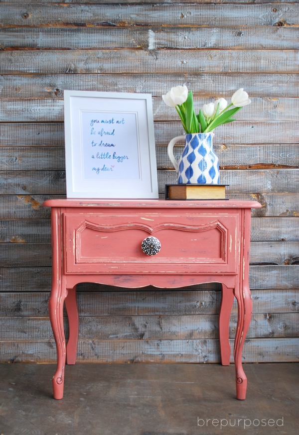 Scandinavian Pink Frenchy Themed Furniture Makeover Day