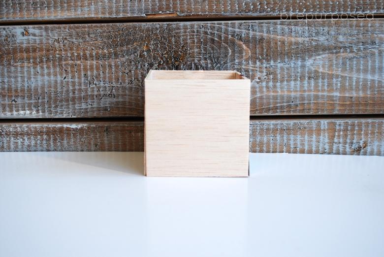 DIY Balsa Wood Planters by Brepurposed