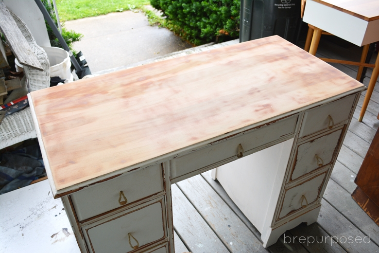 Tavern Green Shabby Chic Desk brepurposed