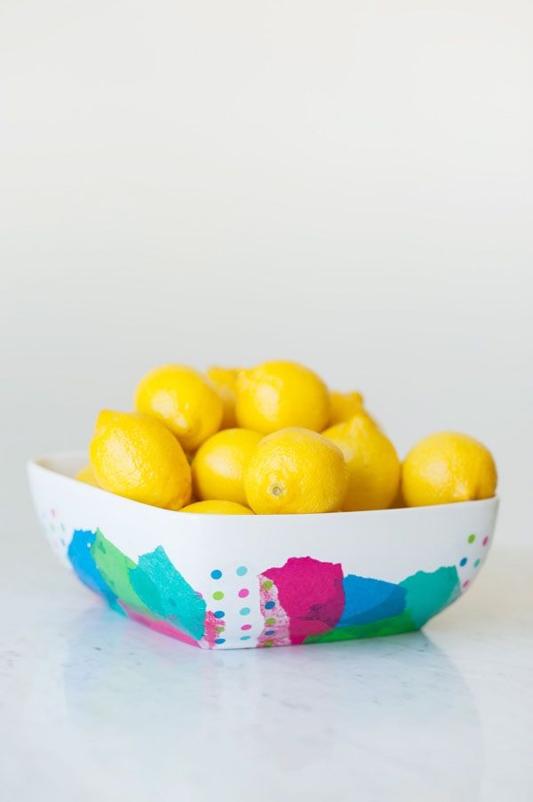 DIY Abstract Fruit Bowl