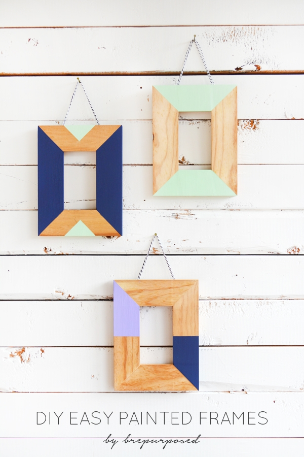 Easy Painted Frames :: Monthly DIY Challenge | brepurposed