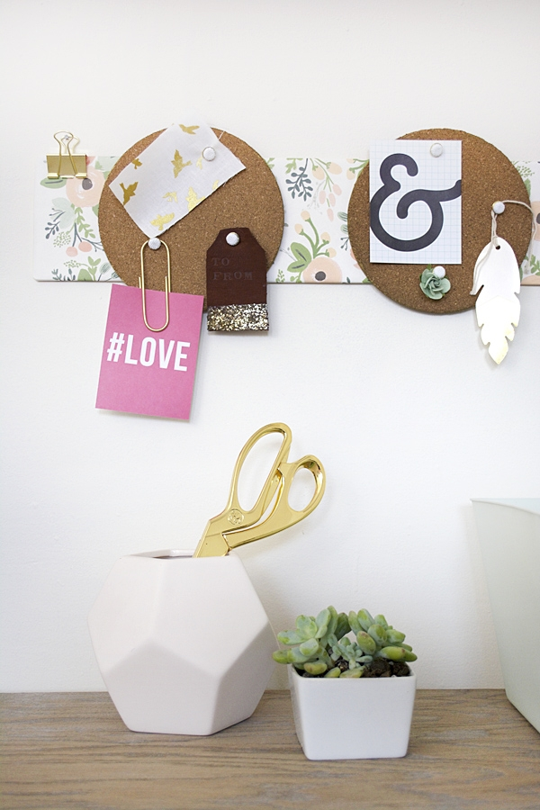 DIY Round Cork Board Holder