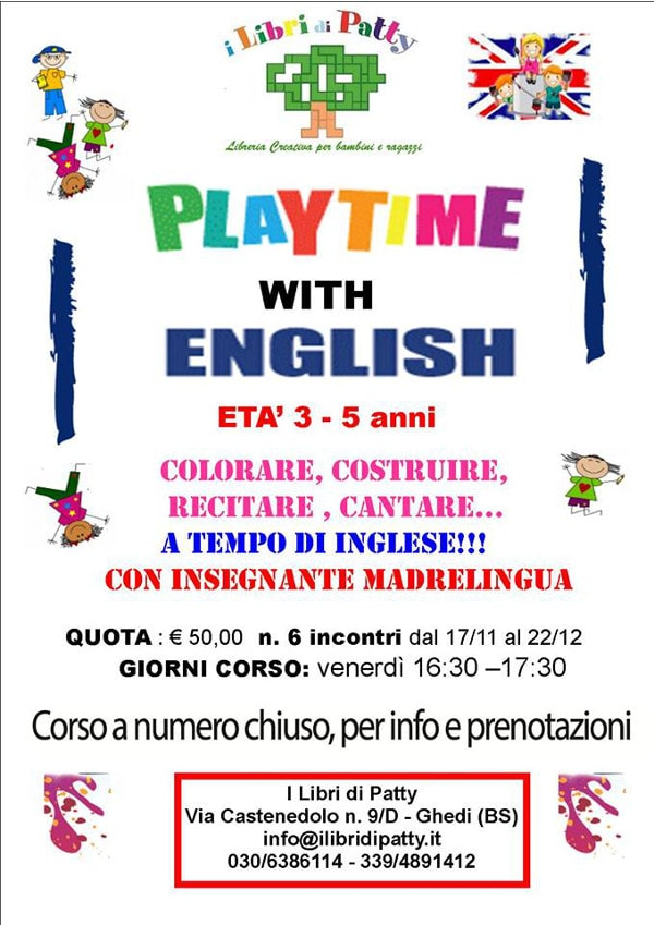 Playtime with English 3-5 anni