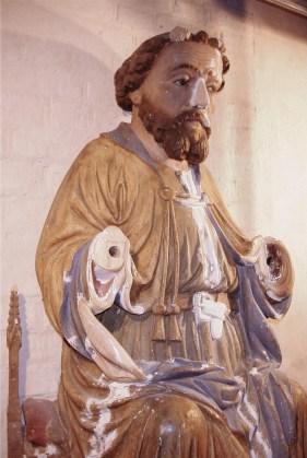 Tempzin, Detail der Antoniusfigur nach Holzergänzungen