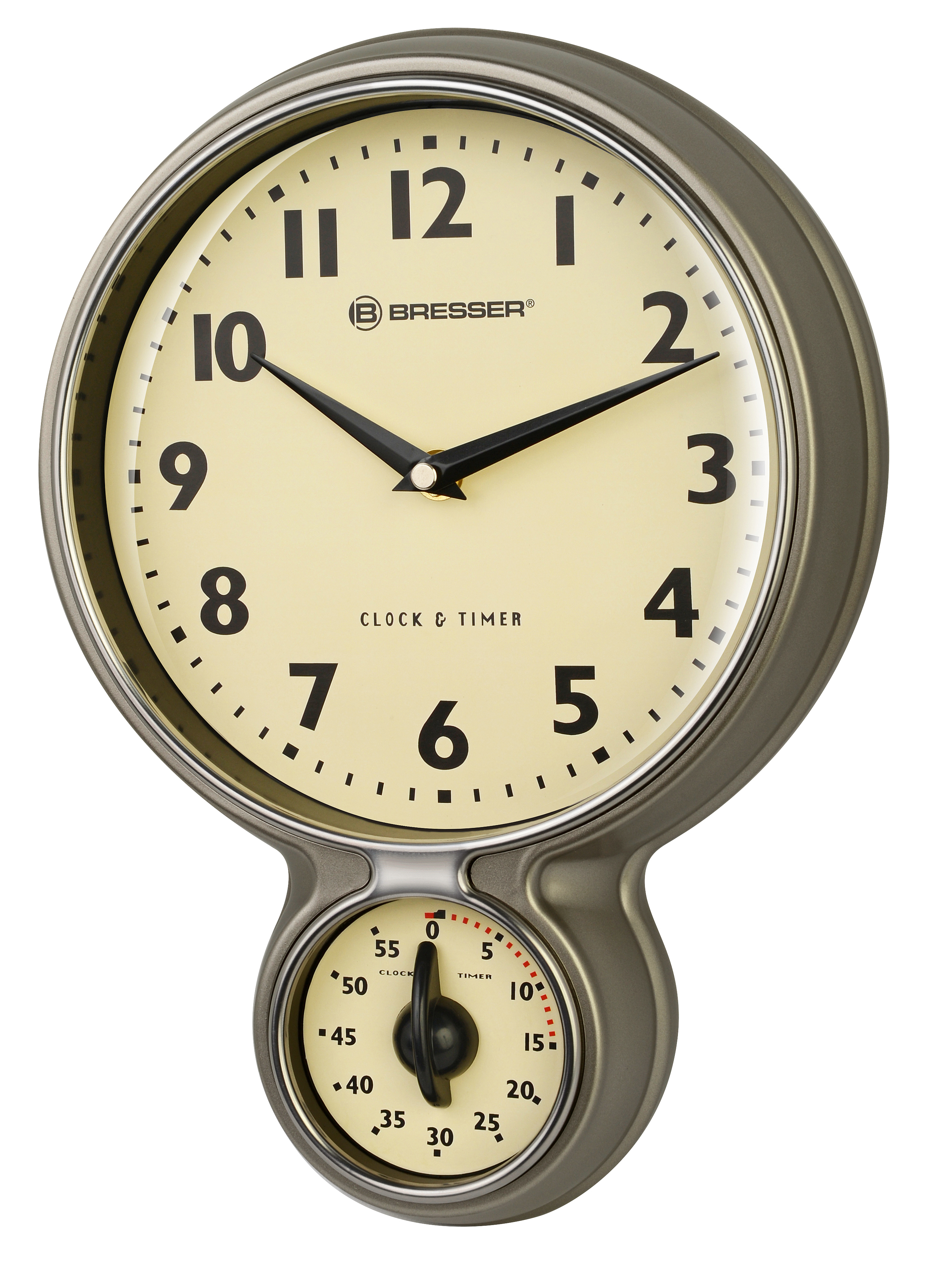 kitchen clocks for sale outdoor kitchens images bresser mytime stainless steel retro clock and timer