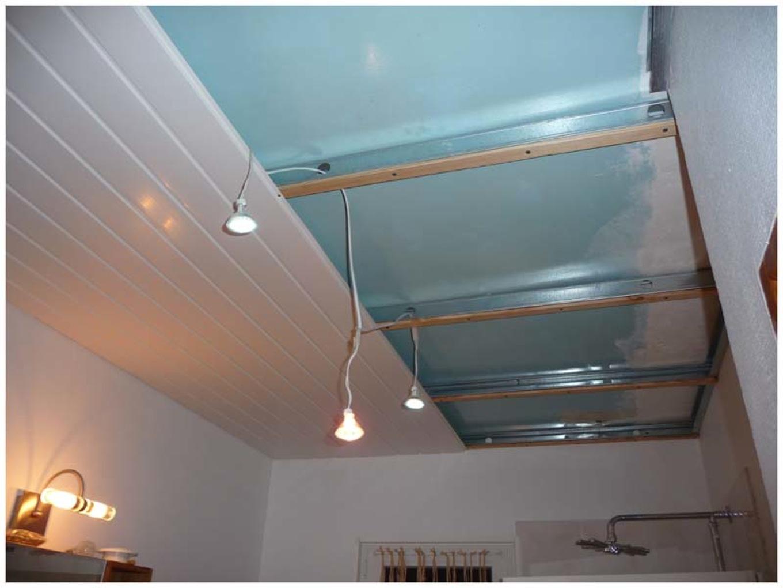 Pose faux plafond pvc salle de bain  Isolation ides