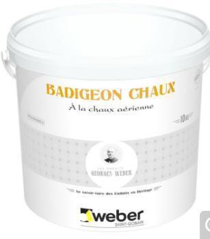 Badigeon Chaux Aerienne Weber Badigeon Chaux Ton Pierre 016 Seau 10 Kg Weber