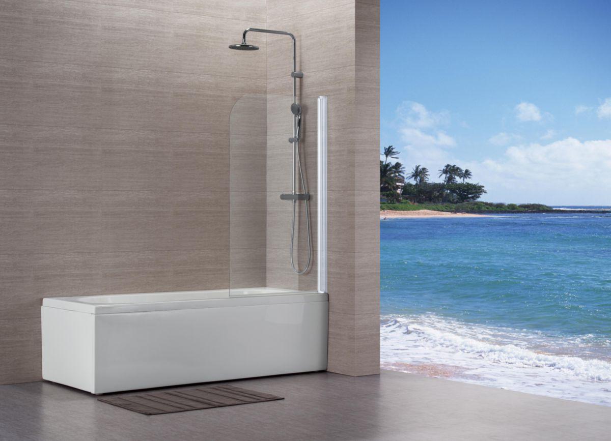 pare baignoire vers eau 80x140 cm