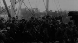 Américains débarquant à Brest en 1917