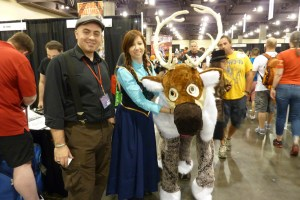 Disney's Frozen, Anna and Sven cosplay