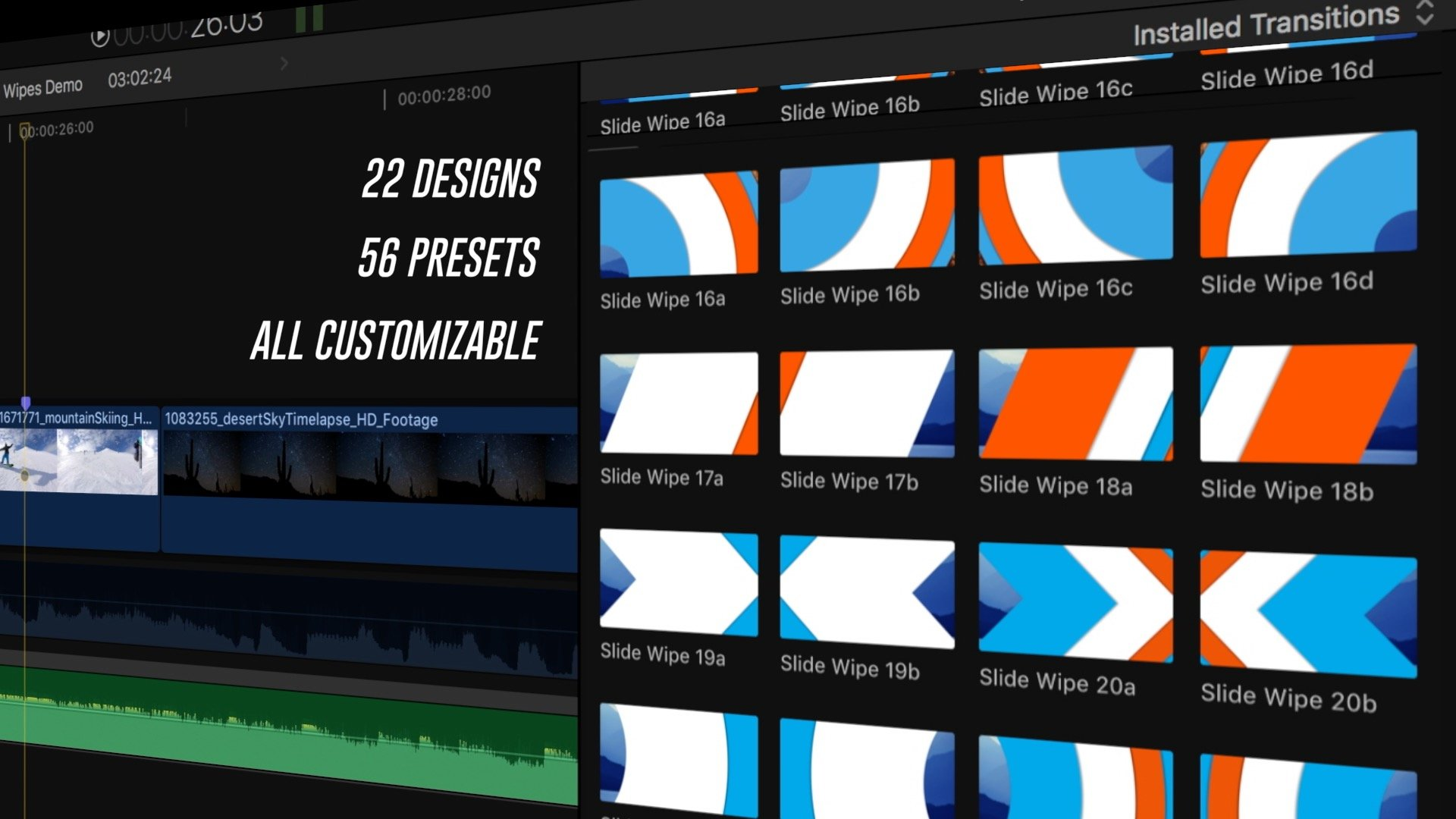 Slide Wipes – BretFX – Plugins. Effects. Generators. Titles. Transitions and Templates for Final Cut Pro X FCP X