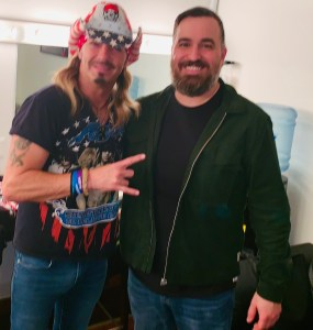 Bret with Brian Quinn from Impractical Jokers