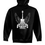 Zip Up Winged Guitar Hoodie