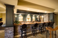 Very classy basement bar! | Awesome Finished Basements ...