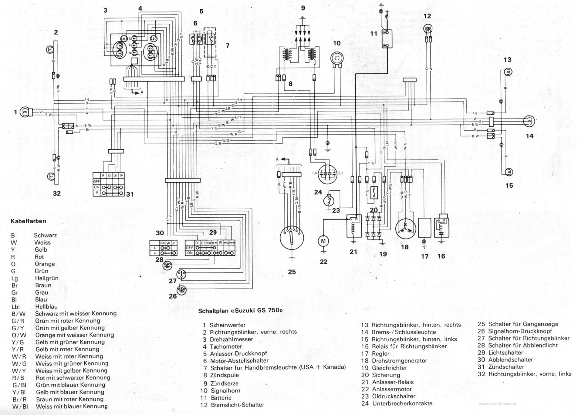 hight resolution of schaltplan stromlaufplan suzuki gs 550 suzuki gs 750 suzuki gs 850 gs 750 gs750 wiring diagram