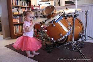 Autumn the drumming ballerina