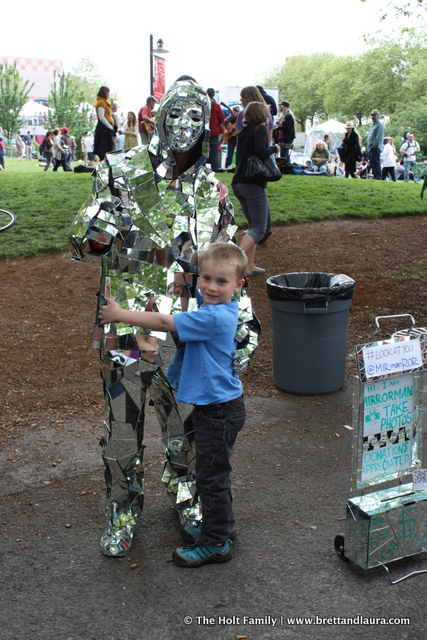 Mirror Man at Folk Life Festival 2012