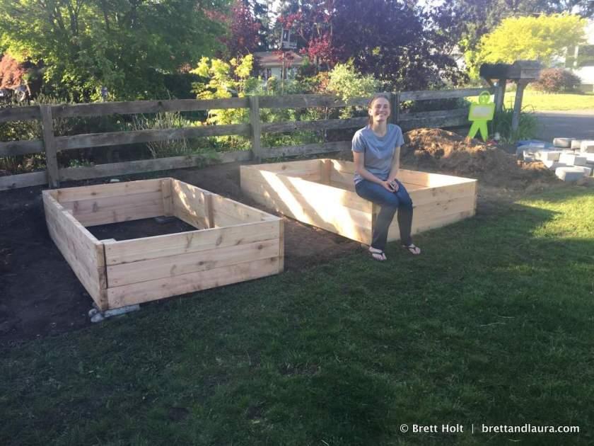 Built a couple more cedar garden boxes in the front yard