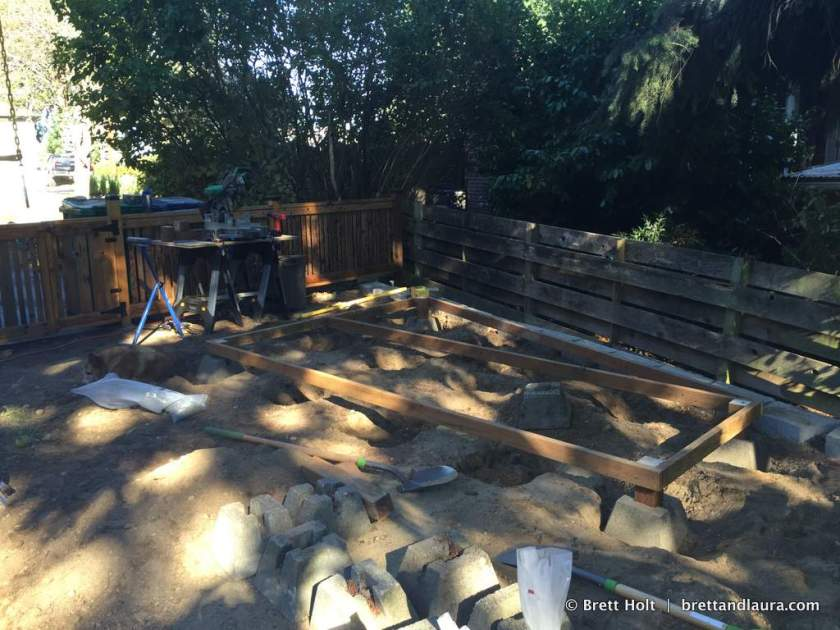 Building starts on our shed
