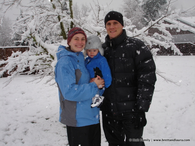 First snow in Eugene 2008!