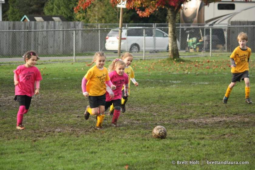 Autumn, mud and soccer