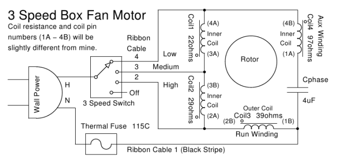 desk fan motor wiring diagram  2 humbucker 3 way switch