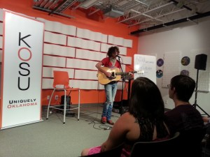 John Calvin in the KOSU Performance Studio, June 20th